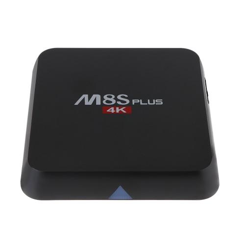M8S PLUS 4K inteligente Android 5.1.1 TV Box Amlogic S905 Quad-core de 64 Bits KODI XBMC H.265 UHD 4K 2G / 8G Mini PC 2.4G e 5G Dual Band Wi-Fi 1000M LAN Miracast HD Media Player Plug EUA