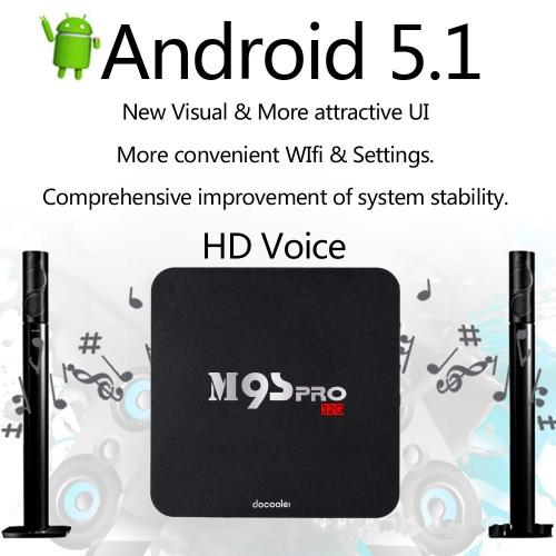 Docooler M9S-PRO Smart Android 5 1 TV Box Amlogic S905 Quad Core KODI16 0  XBMC UHD 4K 3G / 32G Mini PC WiFi H 265 DLNA Miracast HD Media Player US