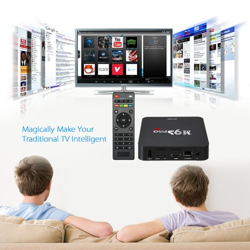 Docooler M9S-PRO Smart Android 5 1 TV Box Amlogic S905 Quad Core KODI16 0  XBMC UHD 4K 3G / 32G Mini PC WiFi H 265 DLNA Miracast HD Media Player US