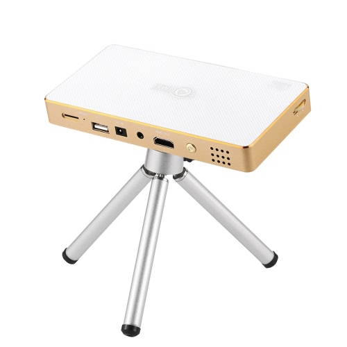 TOUMEI C800 Mini DLP Projector w/Android 4.4.4 Smart TV Box 1GB/8GB KODI / XBMC 3500mAh 2.4G/5G Wi-Fi AirPlay Miracast DLNA Bluetooth 4.0 HD USB TF for Home Theater Education Business US Plug