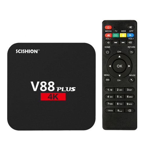 V88 Plus Smart Android 6.0 TV Box KODI 16.1 RK3229 2G / 8G