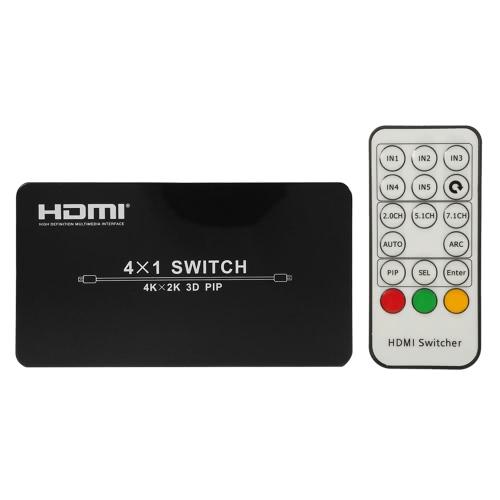 HD Switcher 4 * 1 Four de entrada uma saída HD Mudar Adapter Suporte PIP 4K 3D Full HD 1080p EUA plug