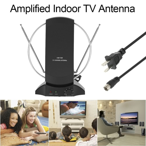 lan-1014 amplified hdtv antenna indoor digital tv antenna 50 mile range 36db