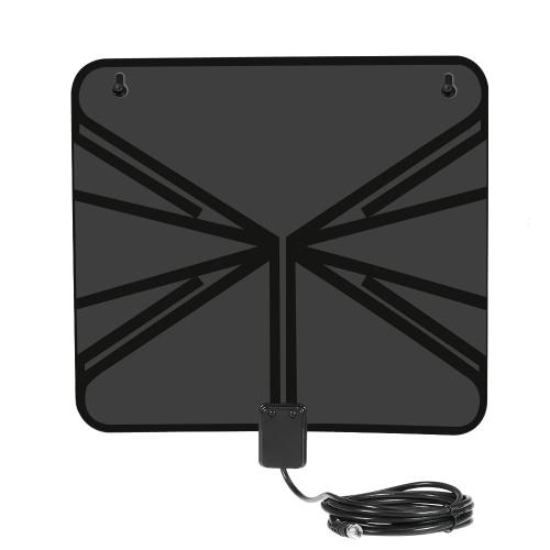 LAN-1040 Amplified HDTV Antenne intérieure TV numérique Antenne 50 Mile Range avec amplificateur de puissance d'alimentation pour HDTV / DTV F Connecteur US Plug