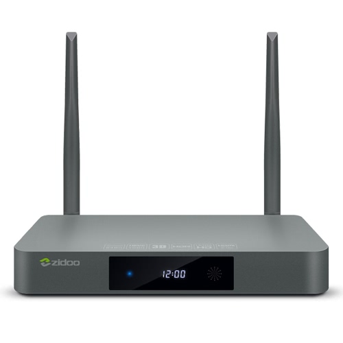 Zidoo X9S Android 6.0 TV Box RTD1295 OpenWRT(NAS) 1000Mbps LAN USB3.0 HDMI IN SATA BT 4.0  -2G+16G US Plug