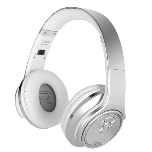 SODO MH1 2 in 1 Bluetooth Headphone Twist-out 3W*2 Speaker Bluetooth 4.2 Headset NFC FM Radio TF card Aux-in Hands-free with Mic -Silver