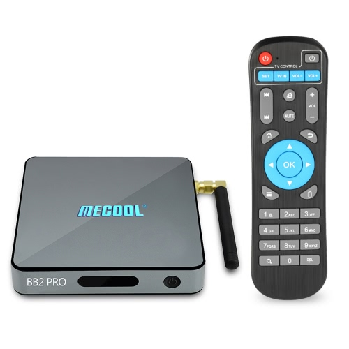 MECOOL BB2 PRO Android Smart TV Box Android 6.0 Amlogic S912 Octa núcleo de 64 bits UHD 4K 3G DDR4 / 16G EMMC KODI 17,0 VP9 Mini PC 2.4G e 5.0G Dual Band WiFi 1000M LAN H.265 XBMC DLNA Miracast Airplay Media Player Plug EUA