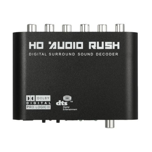 Audio Decoder Rush SPDIF Coaxial para 5.1 / 2.1 Canal DTS / AC-3