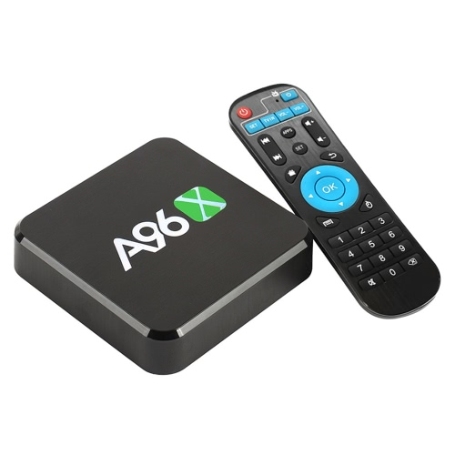 A96X Android 6.0 TV Box Amlogic S905X Quad-Core 1G / 8G UHD 4K Mini PC DLNA HDR10 H.265 VP9 2.4G WiFi inteligente Media Player Plug EUA