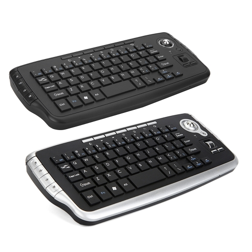 E30 2.4GHz Wireless Keyboard with Trackball Mouse Scroll Wheel Remote Control