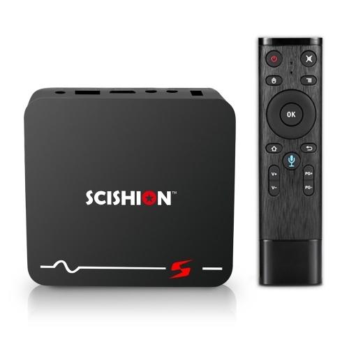 SCISHION S Android 8.1 TV Box 2GB / 16GB con búsqueda por voz