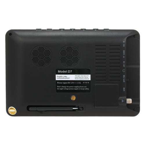 LEADSTARミニ7インチATSCデジタルアナログテレビ800×600解像度ポータブルビデオプレーヤーサポートPVR USB TFカード800mahバッテリー