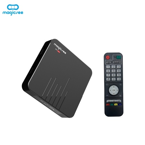 Magicsee N5 Max Smart Android 9.0 TV Box S905X2 4K HDR 2GB / 16GB 2.4G e 5G WiFi e 100M LAN DLNA Miracast HD Media Player