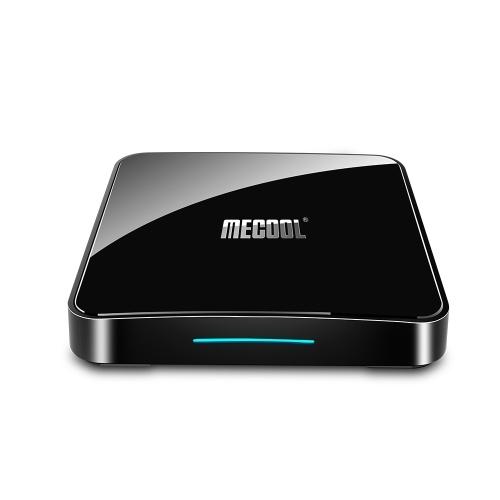 MECOOL KM3 RARE Smart Android 9.0 TV Box UHD 4K медиаплеер Amlogic S905X2 Голосовой пульт дистанционного управления 4 ГБ / 128 ГБ Сертифицированный Google 2.4G / 5G Wi-Fi BT4.0 Красочные дыхательные огни