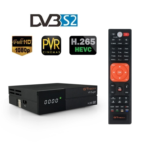 GTMEDIA V9 SUPER DVB-S2 TV-Empfänger HD 1080P Set-Top-Box Digitaler Video-Rundfunkempfänger Eingebauter WiFi-Support H.265