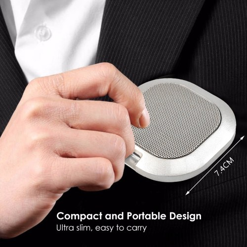 Mini Portable Microphone 360-degree Omnidirectional Microphone with 1.5m USB Cable USB Plug and Play for Video Chat Conference Business Meetings and Negotiations Game Live