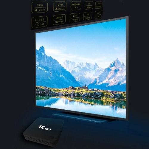 K91 Smart TV Box Android 7.1 S905L Quad Core 64 Bit 1GB+8GB UHD 4K Media Player VP9 H.265 2.4G WiFi
