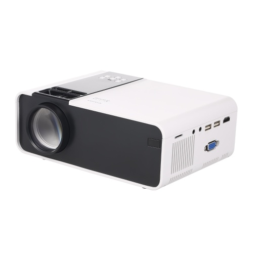 W10 LCD Projector LED 1080P Home Theater 6000 Lumens 1000:1 Contrast Ratio with HD VGA USB Port