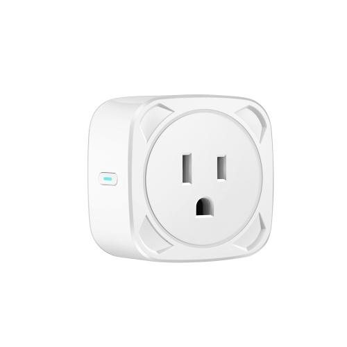 BSD13 10A WiFi Smart Socket US-Stecker Smart Life APP Fernbedienung Timing Sprachsteuerung Kompatibel mit Amazon Alexa & Google Assistant