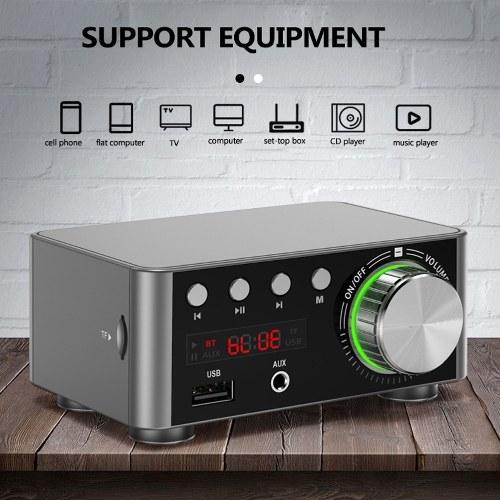 Multifunctional BT Digital Mini Audio Power Amplifier Portable Sound Amplifier Speaker Amp for Car and Home V8196S