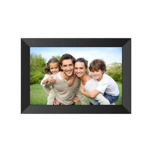 A10 10,1 pouces Frameo WiFi Cadre photo numérique HD IPS Affichage Écran LCD Prise en charge de la carte TF de 32 Go Horloge / Calendrier / Réglage de l'heure / Musique / Photo / Vidéo