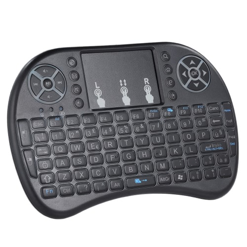 Italian Version Backlit 2.4GHz Wireless Keyboard Air Mouse Touchpad Handheld Remote Control Backlight for Android TV BOX PC Smart TV Black