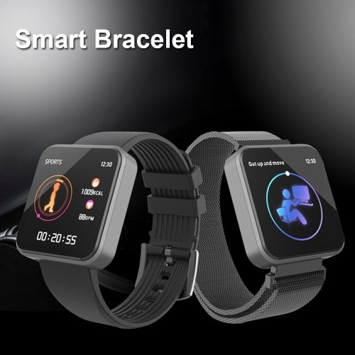 SX8 Smart Bracelet Heart Rate Monitor Smart Band Blood Pressure Measurement Pedometer Wristband IP67 Waterproof BT4.0 Metal Strap фото