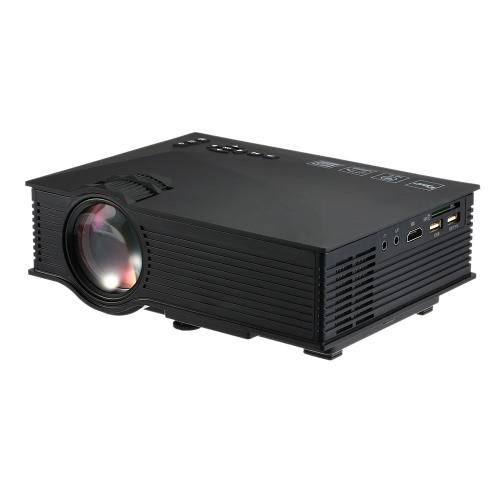 UC46 LED Projector 800*480 Pixel 1200 Lumens 800 : 1 Contrast Ratio Black EU Plug