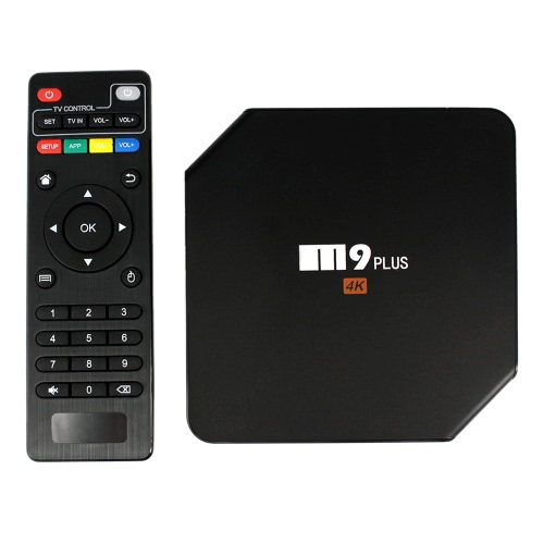 M9 plus Smart TV Android Box Android 5.1.1 Amlogic S905 Quad Core 2 Go / 16 Go avec Kodi XBMC UHD 4K * 2K 60fps HDMI Mini PC 2.4GHz et 5GHz double WiFi BT 4.0 DLNA Airplay Miracast LED Display Media Player Plug-UE