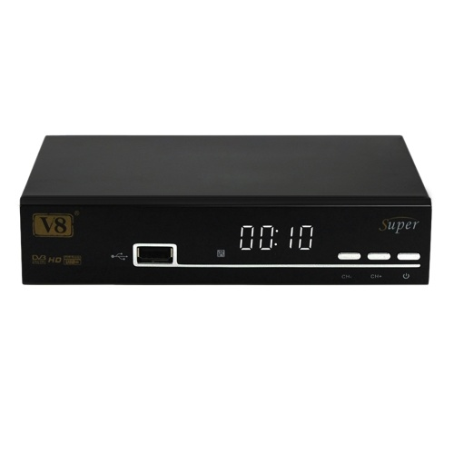V8 Super DVB S2 Récepteur TV Support de boîtier PowerVu Biss Key Cccamd Newcamd Youtube Youporn