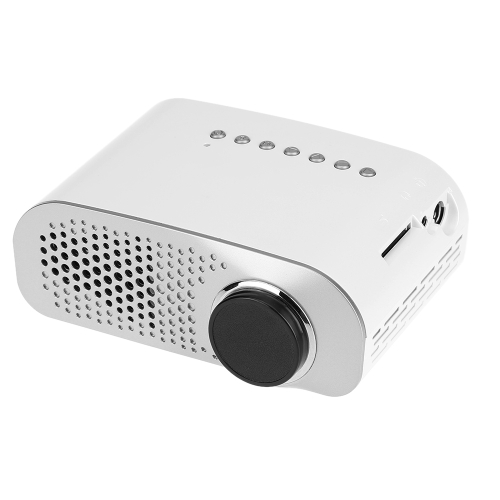 GP802A Mini LED Projector 100 Lumens 480*240 Pixels Contrast Ratio 600: 1 with HD VGA USB AV TV SD Port  EU Plug