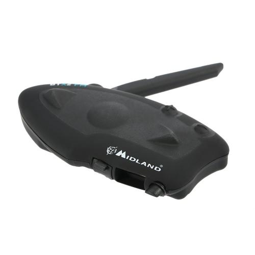 2 Sets MIDLAND BTX2 FM Motorcycle Helmet Headset Bluetooth Intercom 800M Range Hands-free Interphone FM Radio for 4 Riders