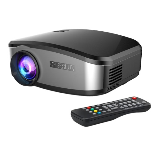 C6 LED Projector 1200 Lumens 1080P HD 800 * 480 USB HD VGA AV - UK Plug