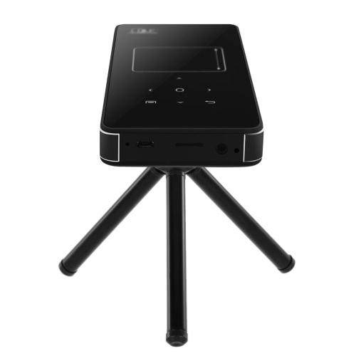 Mini DLP Projector w/Android 4.4 Smart TV Box 1GB/8GB KODI / XBMC 4400mAh 2.4G/5G Dual Band Wi-Fi AirPlay Miracast DLNA Bluetooth 4.0 HD USB TF Card Slot for Home Theater Education Business EU Plug