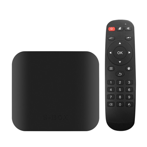 S-BOX Smart Android 6.0 TV Box Amlogic S905X Quad Core 64bit KODI 16.1 XBMC H.265 VP9 UHD 4K HD 3D 2G / 16G Mini PC WiFi BT 4.0 DLNA AirPlay Miracast Media Player US Plug