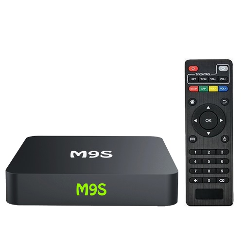 M9S X1 Android Smart TV Box Android 6.0 S905X Quad-core UHD 4K 1G / 8G Mini PC 1000M LAN WiFi H.265 Media Player Plug EUA