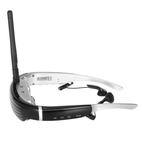 VISION-720S 5.8G 40CH FPV Glasses Jeu Vidéo Displayer 68 pouces Casques d'écran virtuel de soutien AV-IN / FPV-IN pour DVD TV BOX FPV EU Plug