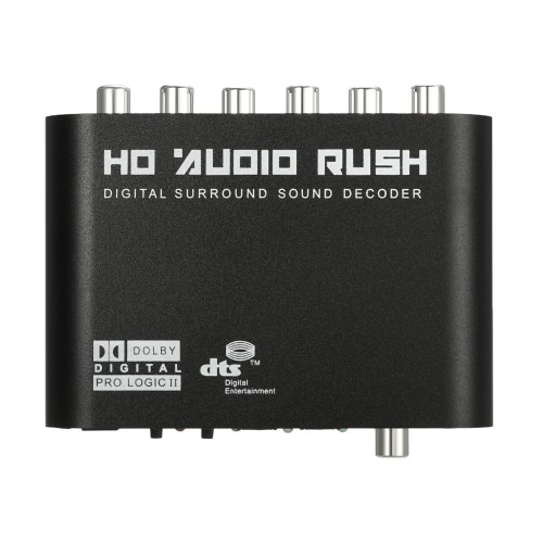 5.1 Audio Rush SPDIF coassiale a 5.1 / 2.1 canali DTS / AC-3 Audio Decoder Surround Sound Rush per STB lettore DVD HD Player Xbox 360 EU Plug
