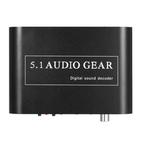 5.1 Audio Decoder vitesse DTS / AC-3 Digital Sound 5.1 / 2.1 analogique Convertisseur de sortie pour STB Lecteur DVD Lecteur HD Xbox 360 EU Plug