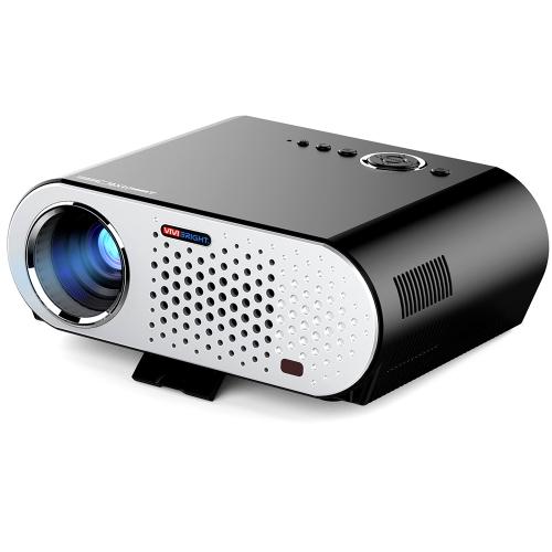 """Projektor LED GP90 Kolorowy projektor LED 280 """"3200 lumenów ANSI 1280 * 800 pikseli 10000: 1 Współczynnik kontrastu"""