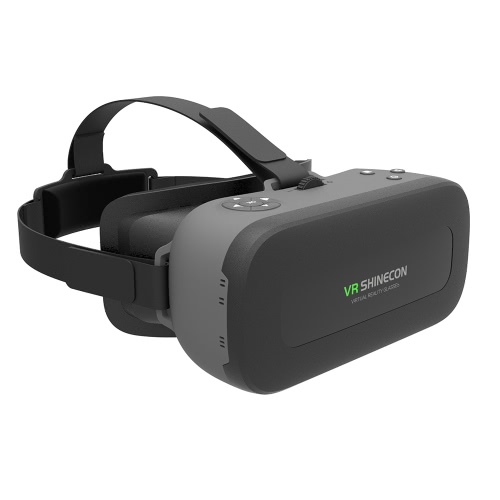 VR SHINECON VR All-in-one machine Casque de Réalité Virtuelle Lunettes 3D 1080P 5.5inch écran IPS 108 ° FOV Prise en charge 60Hz FPS 2D / 3D / Panorama Immersive WiFi BT 4.0 Port w / USB fente pour carte TF EU Plug