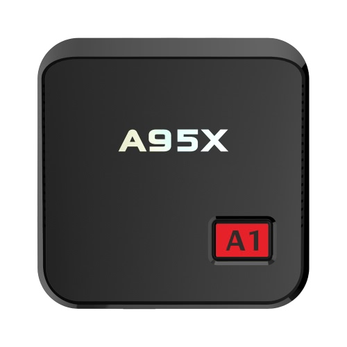 A95X A1 ​​Smart Android 6.0 TV Box Amlogic S905X Quad-core UHD 4K 1GB DDR4 8GB EMMC Mini PC LAN et WiFi H.265 VP9 HDR Lecteur multimédia EU Plug