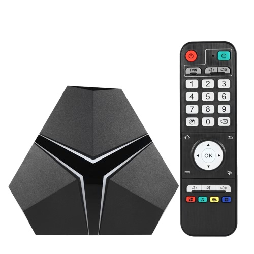 Magicsee IRON + Smart Android TV Box Android 6.0 Amlogic S912 Octa Core Mini PC DDR4 3 Go / eMMC 16 Go VP9-10 4K H.265 2.4GHz / 5.0GHz WiFi 1000M LAN Media Player EU Plug