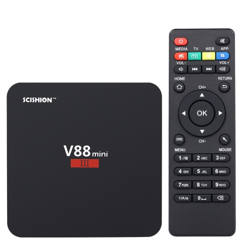 Scansione V88 mini III scatola TV Android 7,1 RK3328 2G / 8G