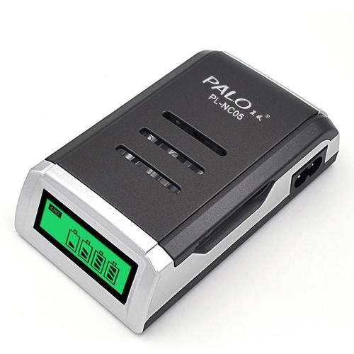 Carregador de bateria PALO para pilhas recarregáveis Ni-MH / Ni-Cd AA / AAA
