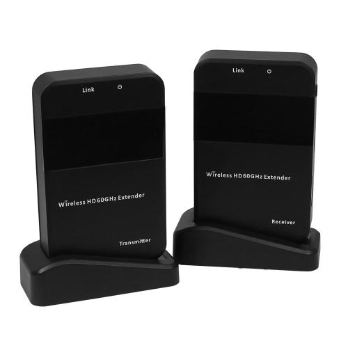Беспроводная передача видеосигнала HD Video 1080P 60 ГГц Передатчик приемника Передатчик Без препятствий Дальность передачи 30 м для Blu-ray DVD-плеера STB PC to HDTV Projector EU Plug