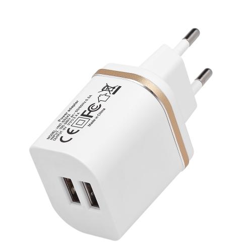 Универсальное двухпортовое USB-зарядное устройство 12W / 2.4A