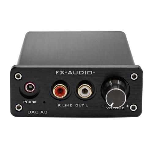 FX-AUDIO DAC-X3 Decodificador USB de fibra de 24 bits 192 KHz