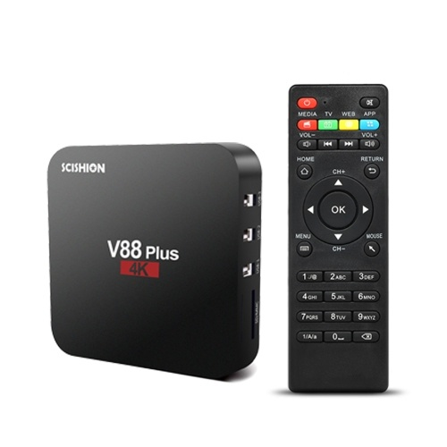 SCISHION V88 Plus اندرويد 8.1 TV Box HD ميديا بلاير 2 جيجا بايت / 16 جيجا بايت