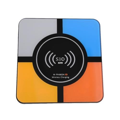 S10 Plus Smart Android 9.0 TV-Box RK3328 Quad-Core 64-Bit-UHD 4K VP9 H.265 4 GB / 32 GB 2.4G WiFi HD Media Player